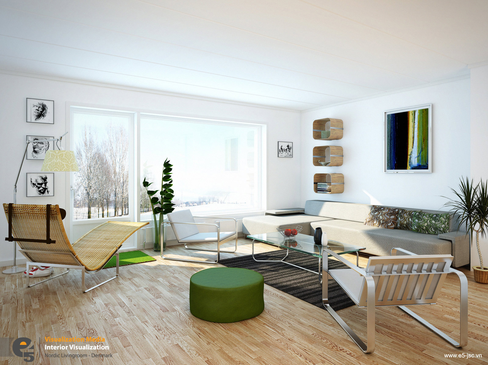 White living rooms for Living room space