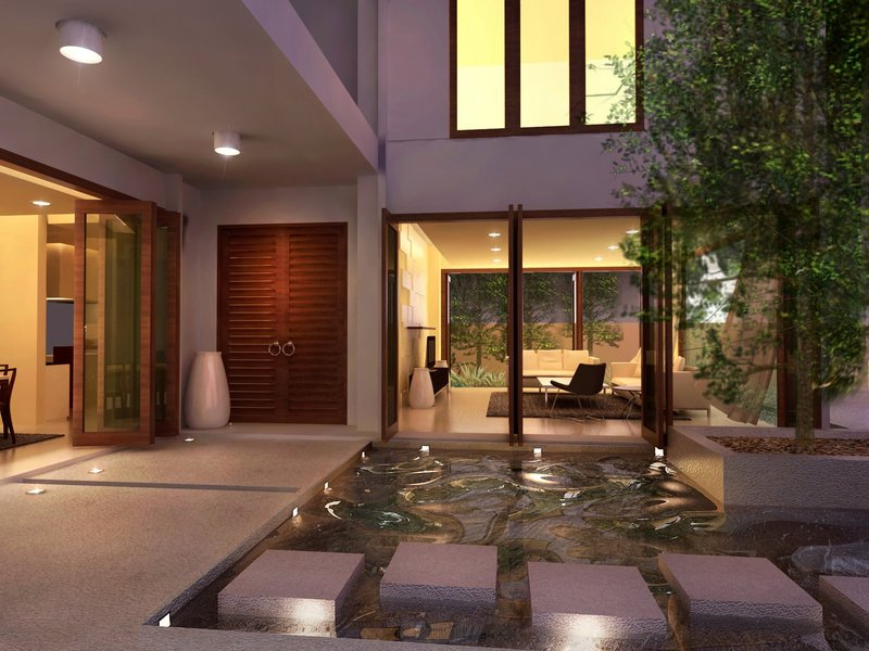courtyard with pool. beautiful ideas. Home Design Ideas
