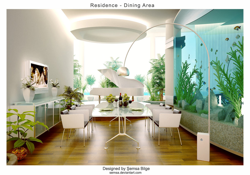 White themed dining room ideas for Cool dining rooms