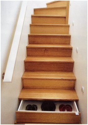 drawer under stairs