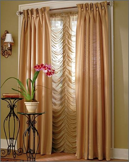 Inspiring Gold Living Room Window Curtains