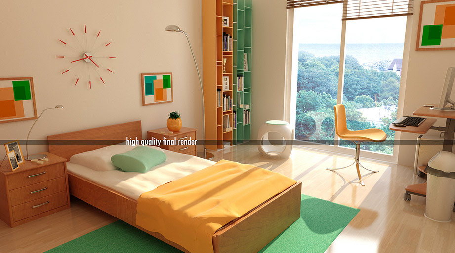 bedroom ideas for young adults. Uni-Sex Bedroom by Burak Birer