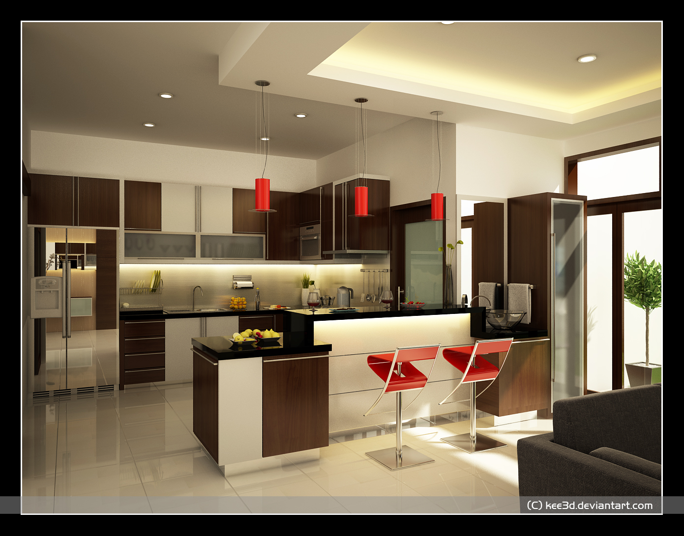 Home Kitchen Designs Ideas Part - 23: By Octo Brilian
