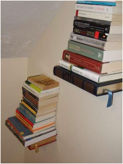 Uncommon bookshelves and furniture How to make an invisible bookshelf