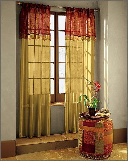 Beautiful curtains bedroom curtains window curtains for Red and gold drapes