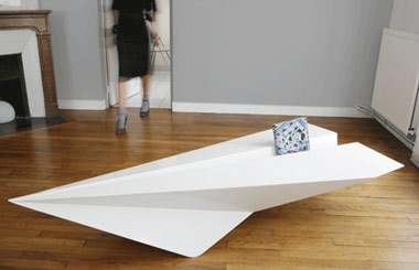 Kids floating paperplanes everywhere? Your turn to get back. Bring the  paperplane table to your living room. Designed by irish designer Lorraine  Brennan.