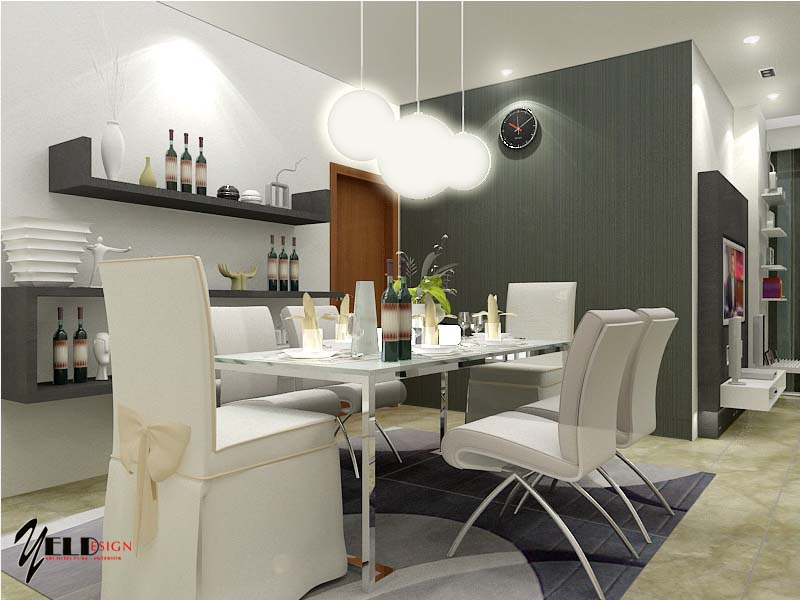 by Yeldy. White Themed Dining Room Ideas