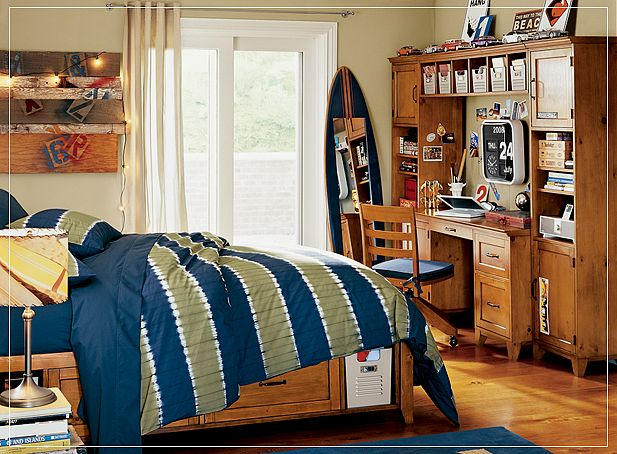 Teen room ideas for Surfers bedroom design