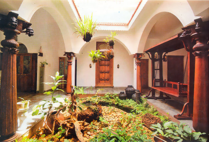 Interior courtyards for Indian traditional interior design ideas