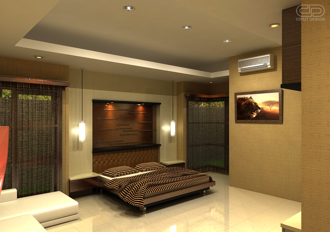 Interior bedroom lighting Bedroom interior decoration ideas
