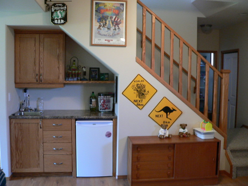 Ideas for space under stairs for Kitchen designs under stairs