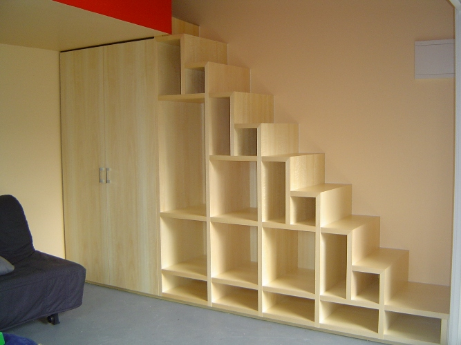 Staircase Shelving ideas for space under stairs