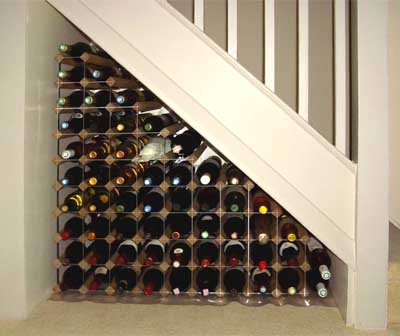 wine rack plans under stairwells