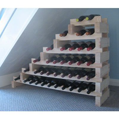 Ideas for space under stairs - Small space wine racks design ...