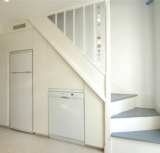 Kitchen Under Stairs Storage ~ Ideas for space under stairs