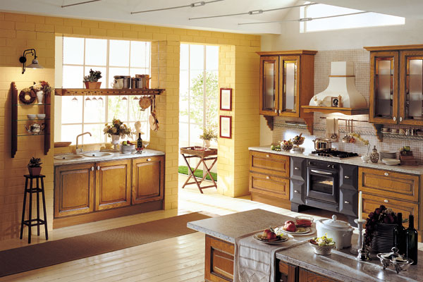 Traditional italian kitchens for Kitchen decorating ideas yellow walls