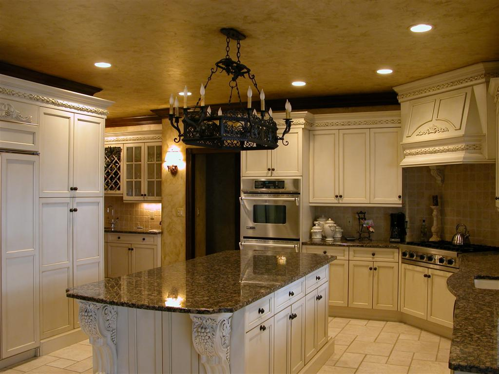 Tuscan style kitchens for Kitchen island cabinets