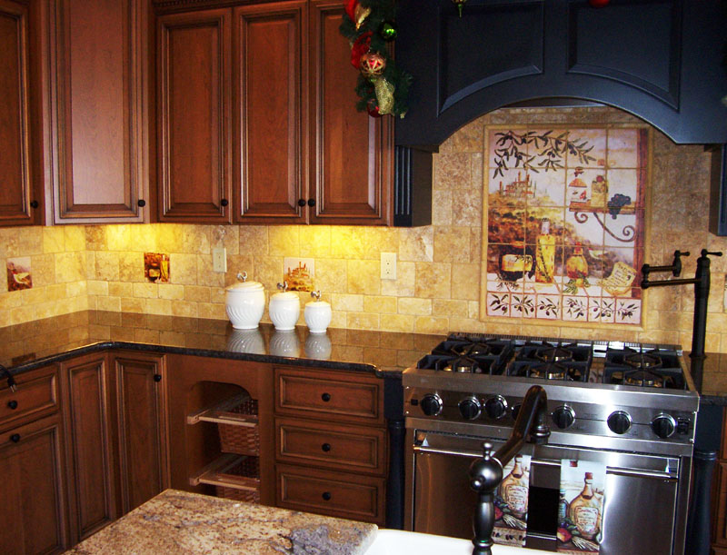 Tuscan style kitchens for Tuscan kitchen designs photo gallery