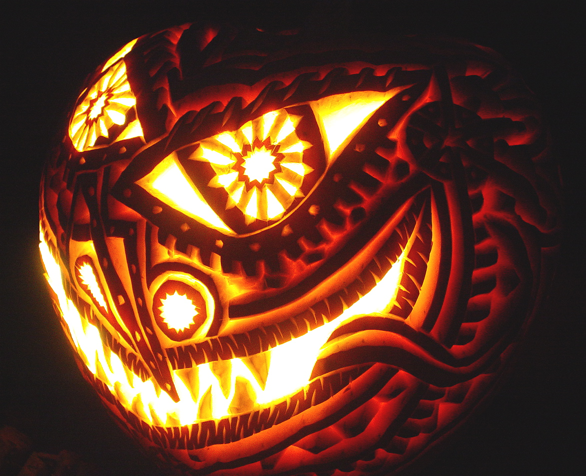 by billy hutch - Cool Halloween Pumpkin Designs