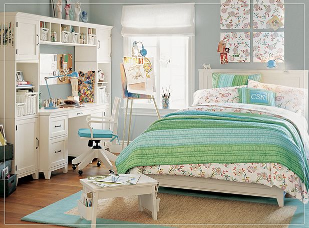 Teen room for girls for Designs for teenagers bedroom