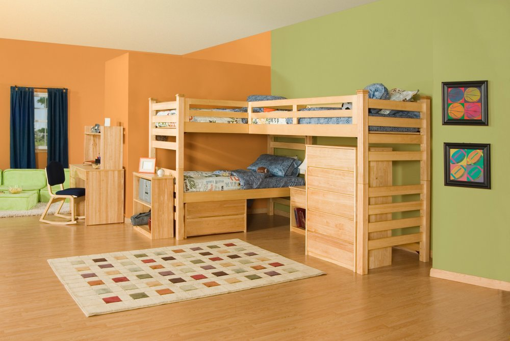 Kids room ideas 2 for Bedroom ideas for 3 beds