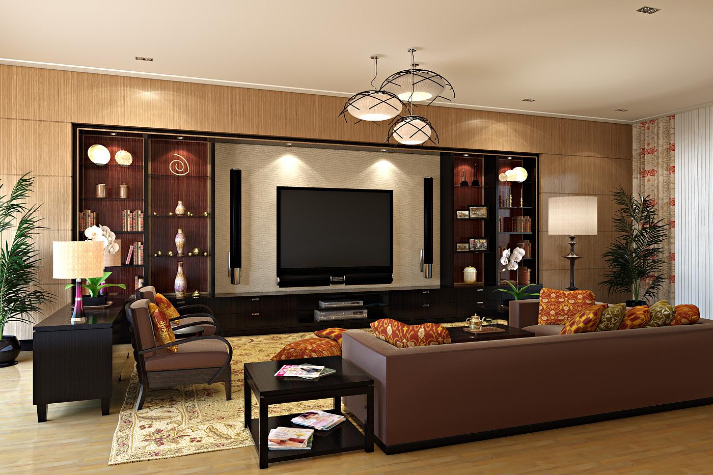 Home entertainment spaces for Living room theater
