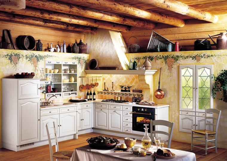 French country kitchens for Country rustic kitchen ideas