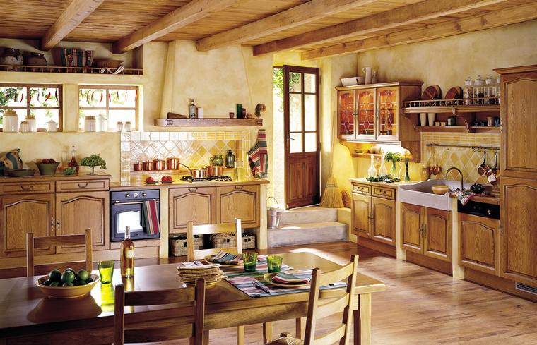 French country kitchens - Country style kitchen cabinets design ...