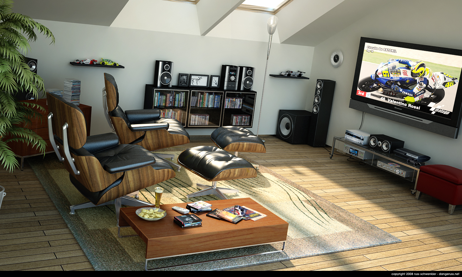 Home entertainment spaces for Small entertainment room decorating ideas