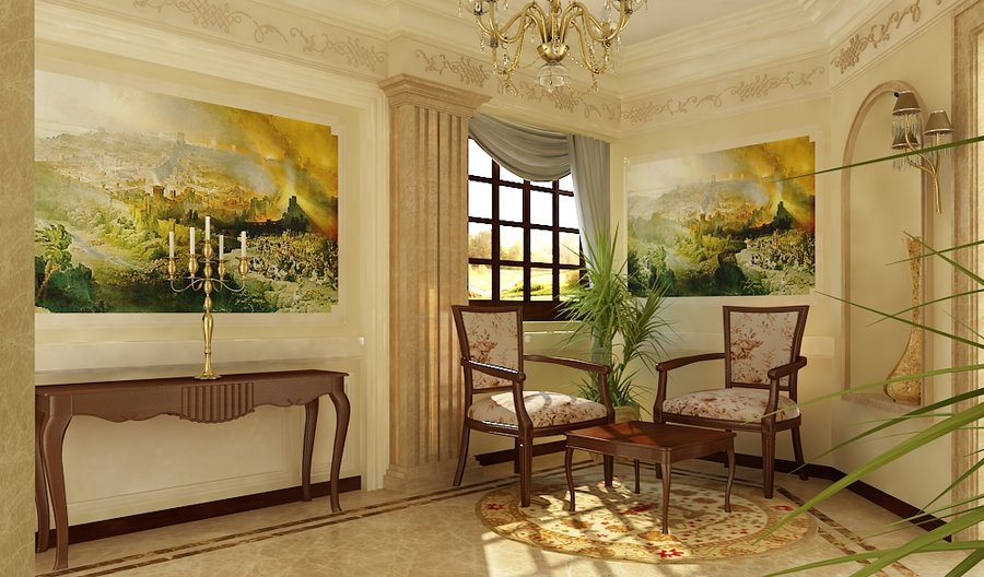 Classic interior design for Classic decoration home