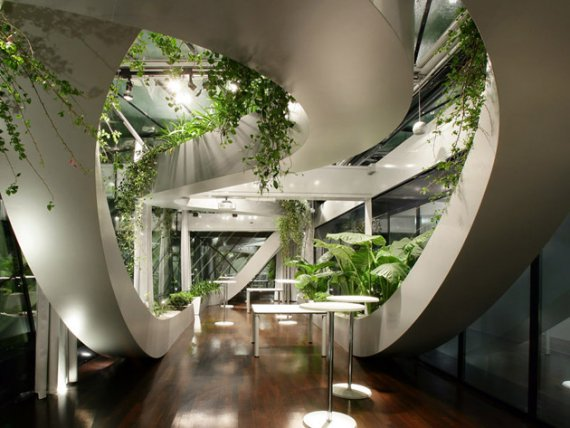 Indoor garden Interior design plants inside house