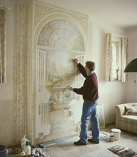 Amazing 3d paintings for Wall painting living room ideas