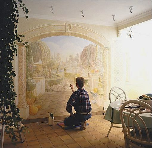Amazing 3d paintings A wall painting