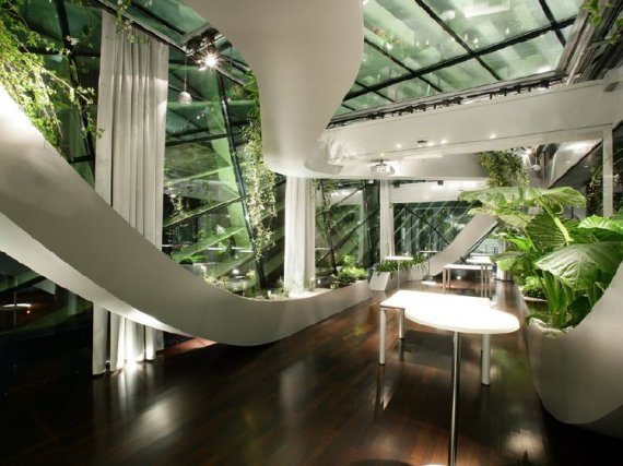 Indoor garden Amazing home office designs