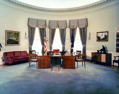 Us presidents office interiors home design Oval office decor by president
