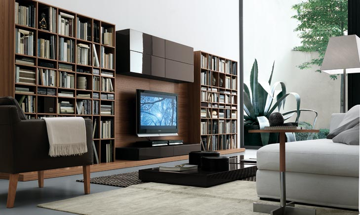 Modern wall units for Sala de entretenimiento