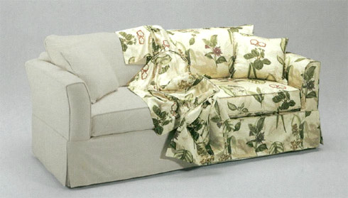 Inexpensive decorating ideas - Forro para sofa ...