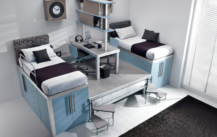 Small Rooms with Bunk Beds for Teens 700 x 442