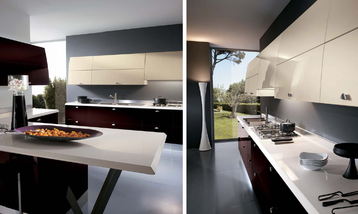 Italian kitchens from giugiaro designs for Dynamic kitchen design interiors