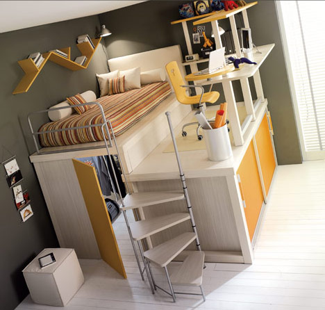 Bunk beds and lofts for kids and teens 39 room - Cool loft bed designs ...