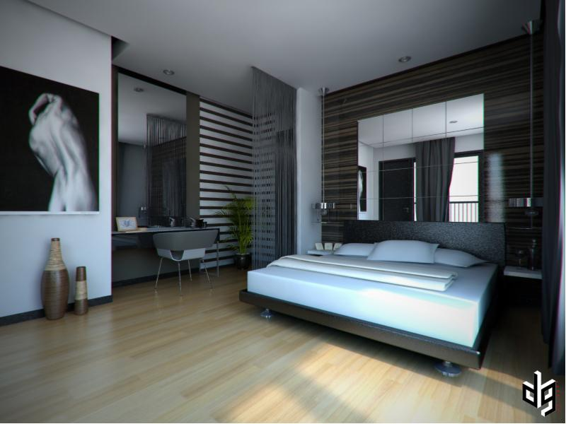 Mens Bedrooms 3D Perspective Interior My Home Pinterest Design