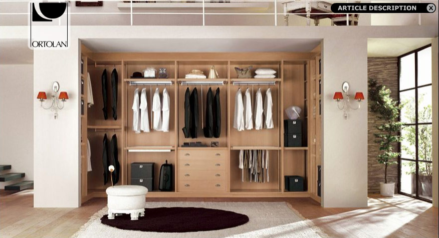 Walk in wardrobe designs and modular walk in wardrobe furniture Home interior wardrobe design