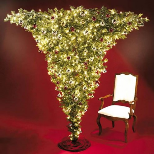 upside-down christmas tree