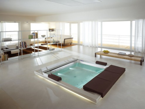 floor bath tub
