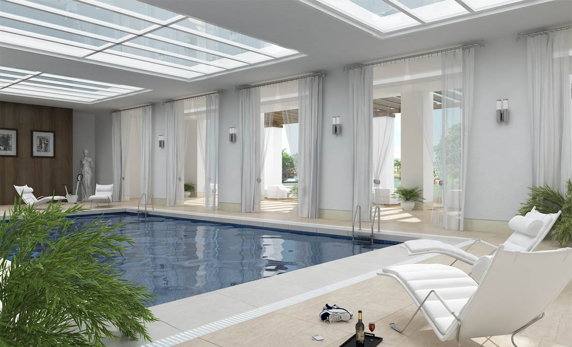 Indoor Pool Designs pools marvelous indoor swimming pool designs with wooden unique chair also luxurious home interior also white Interior Pool