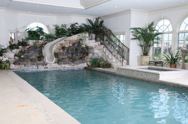 Indoor pools for Pool design with slide