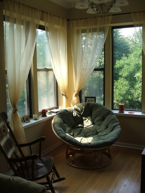 Reading place by the window