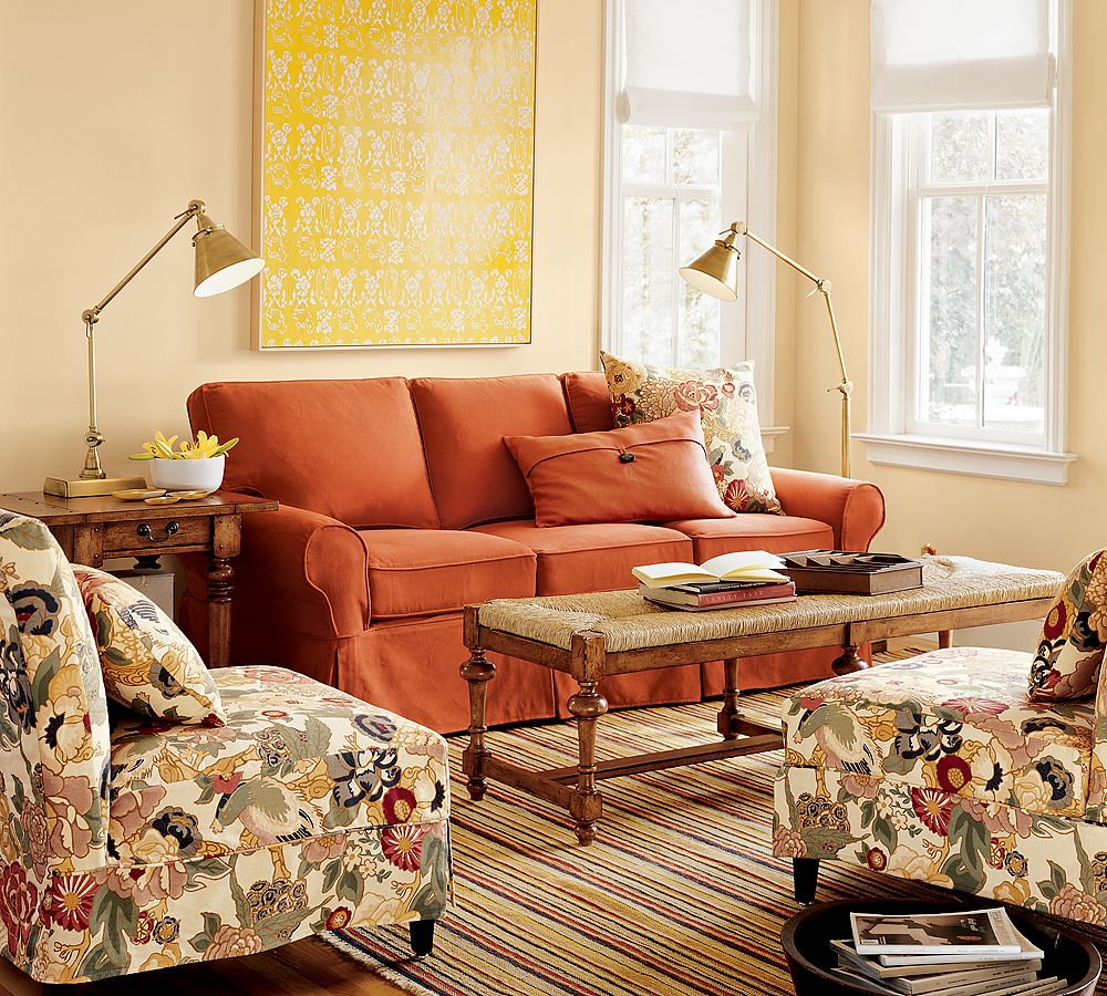 Orange Couch Living Room Comfortable Living Room Couches And Sofa