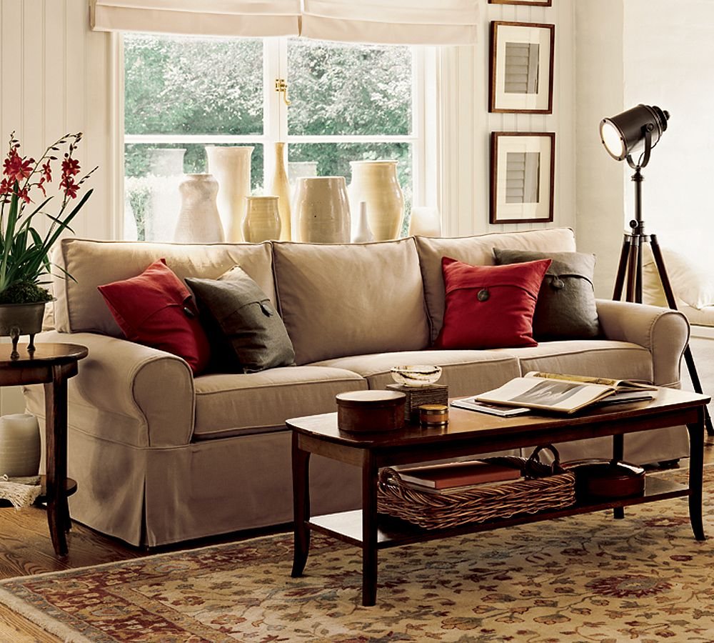 Comfortable living room couches and sofa for Red and brown living room furniture