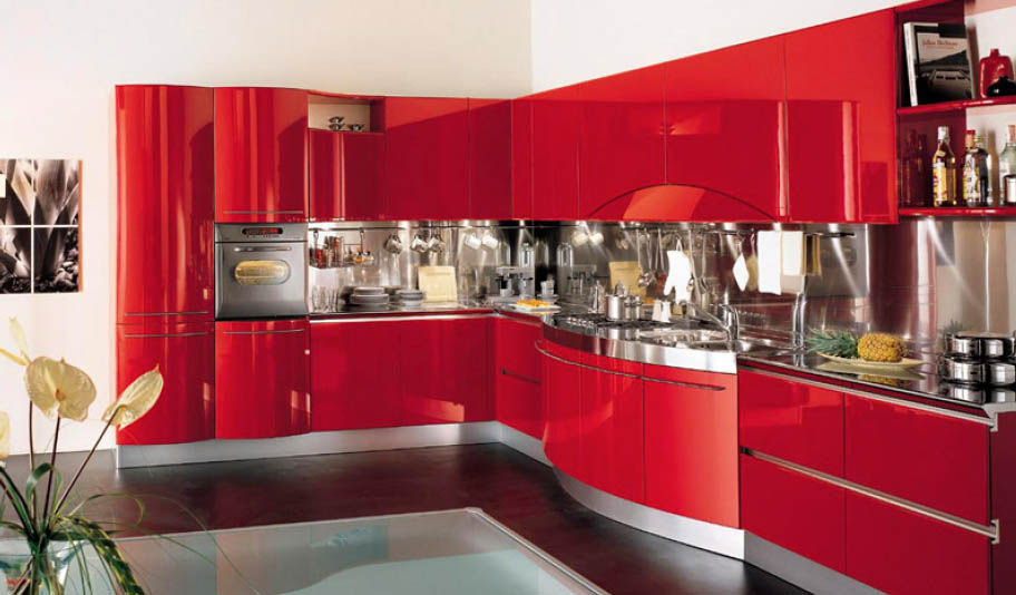 Modern italian kitchens from sports car makers for Unit kitchen designs